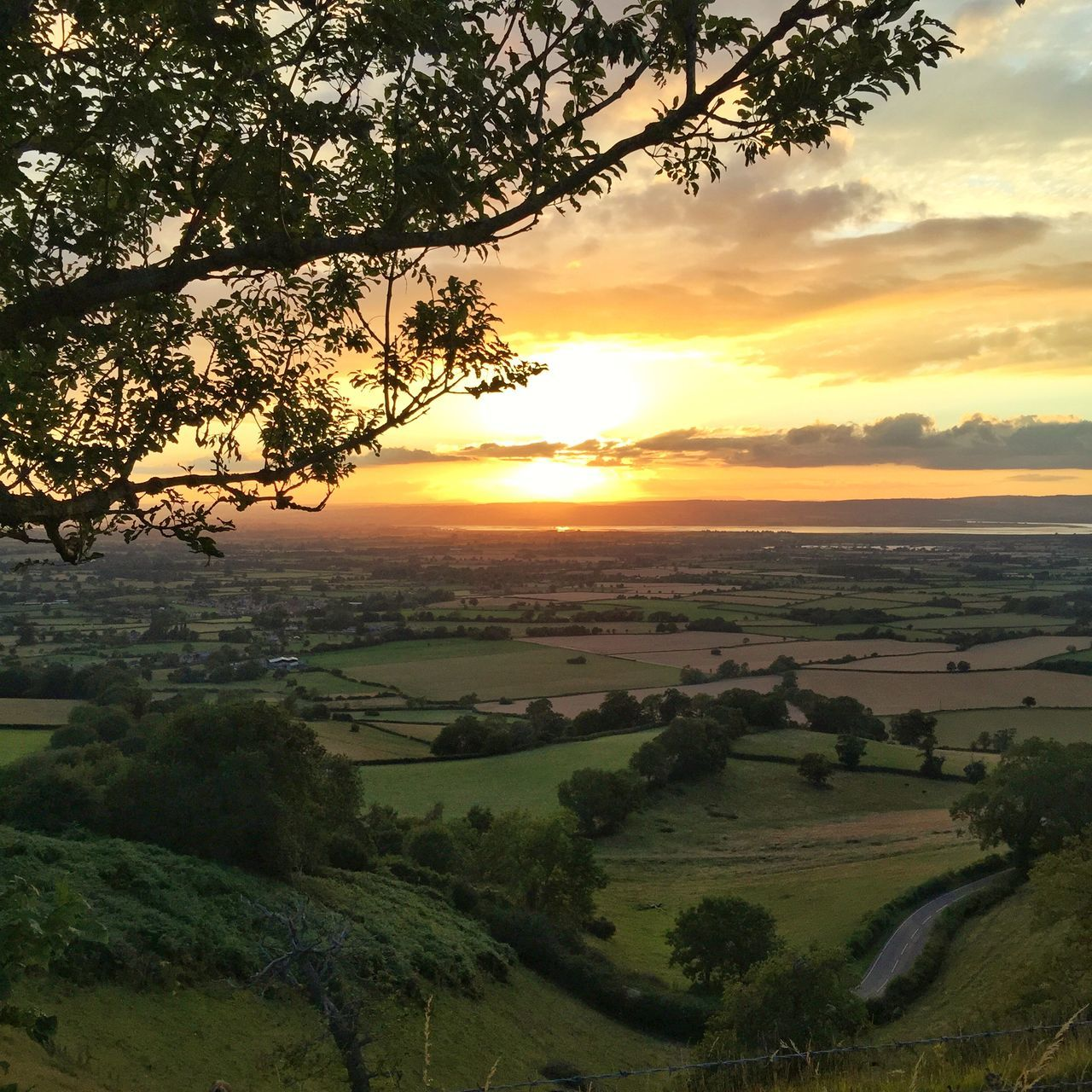 Sunset over the Cotswolds Golden Glow Sunset Sunlit Beauty Summer Cotswold Way Gloucestershire Viewpoint 43 Golden Moments