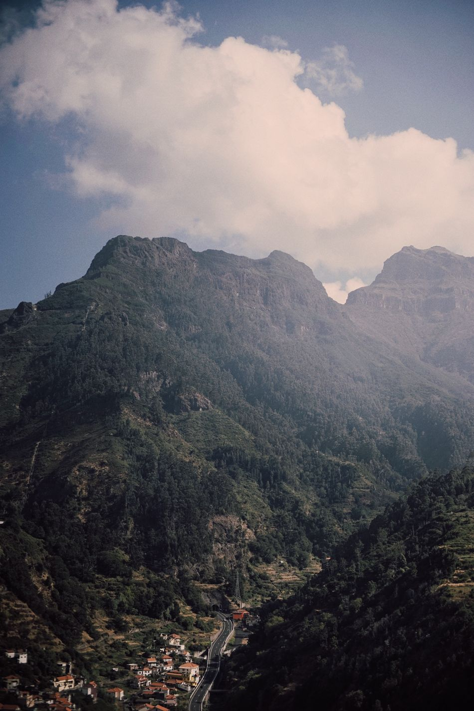 All the way up. Mountain Scenics Sky Mountain Range Nature Majestic Valley Coast Landscape People And Places The Week Of Eyeem Landscapes Nature Photography Portugal Madeira Cloudy Nature Cloud Clouds Beauty In Nature Landscape_Collection Tranquil Scene Cloud - Sky Tourism Tourist