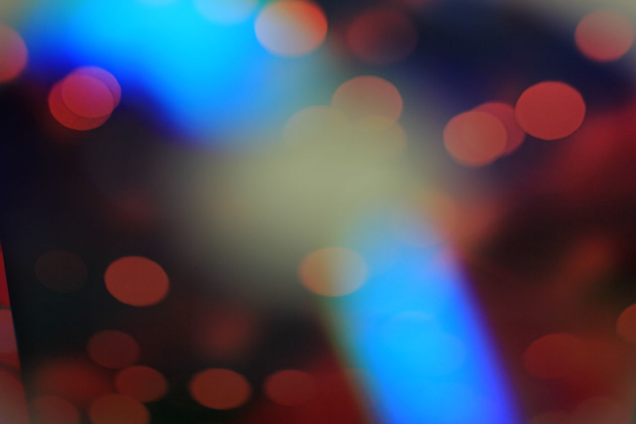 illuminated, defocused, light effect, night, lighting equipment, multi colored, glowing, lens flare, abstract, backgrounds, fairy lights, colorful, no people, pattern, close-up, celebration, outdoors, disco lights, christmas lights, projection equipment