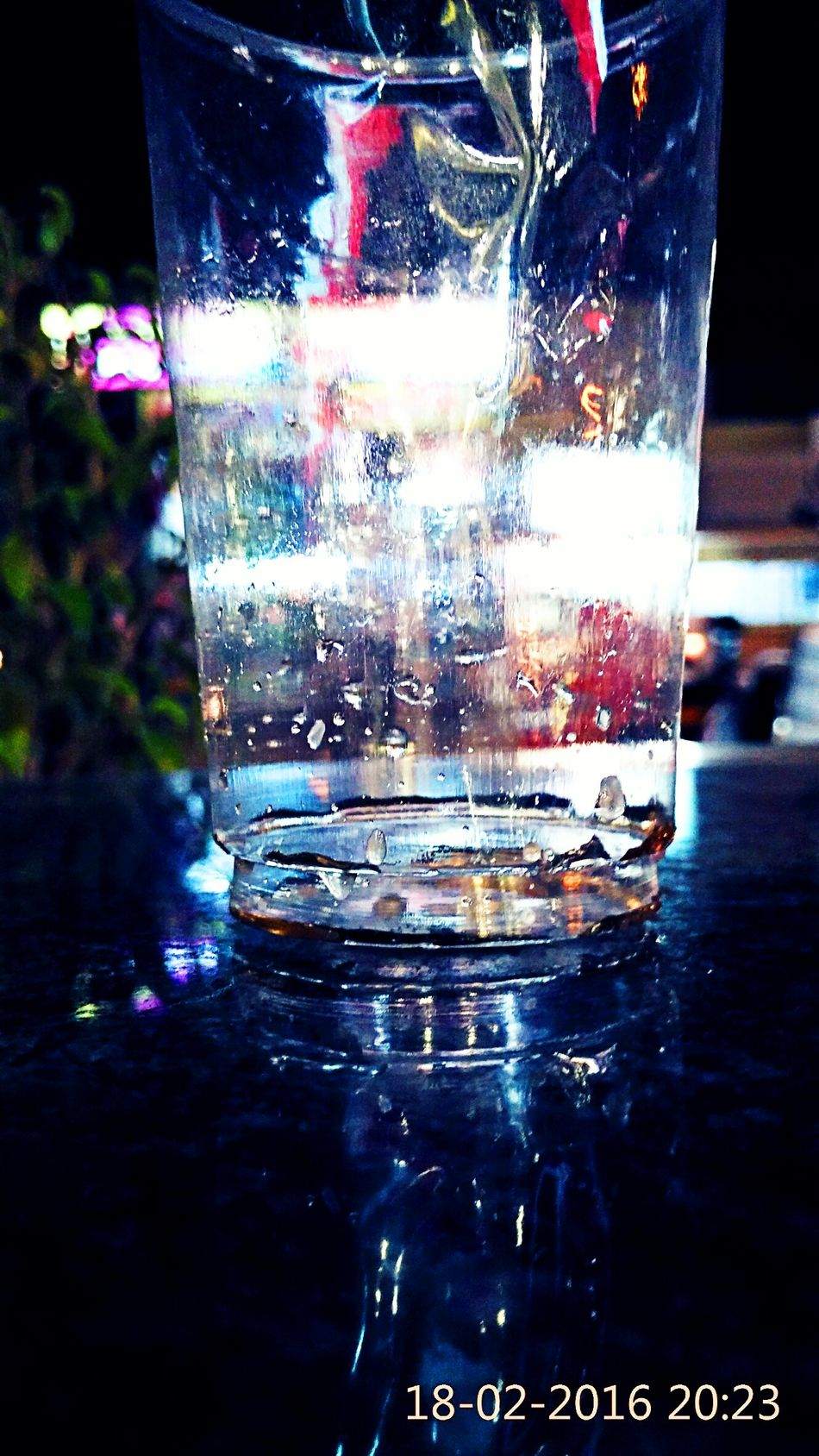 Glass Art Water Reflections Watet Droplets The Mix Up