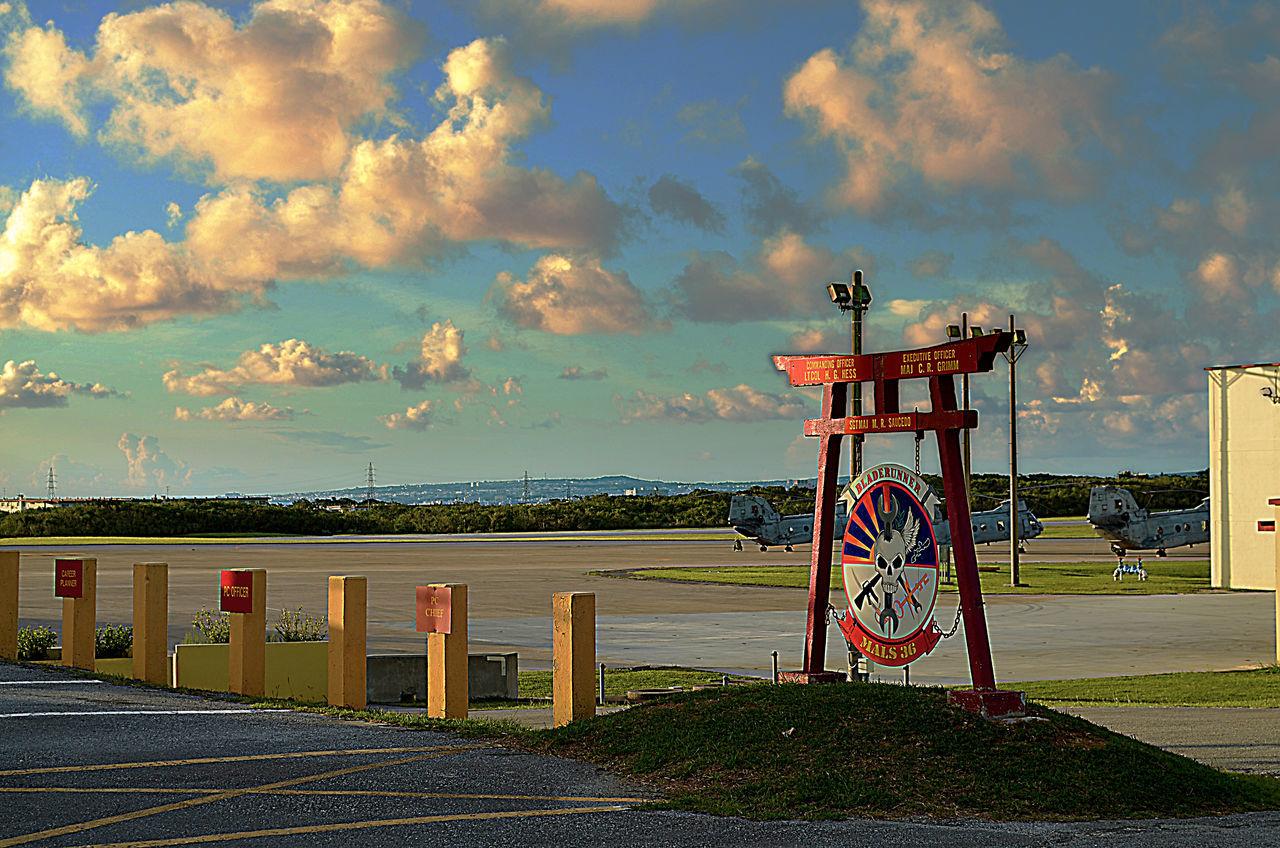Sky Sea Cloud - Sky Outdoors No People Water Nature Day Marines Military USMC Marine Corps Okinawa OKINAWA, JAPAN Flightline