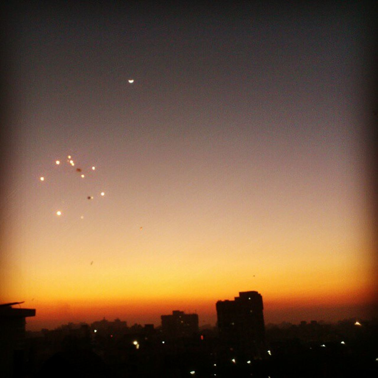 Evening Skycrackers Sky Clouds Buildings Colourful Orange Yellow Black Sunset Bright Instagood Instapics Picoftheday Photography Xperiaarc