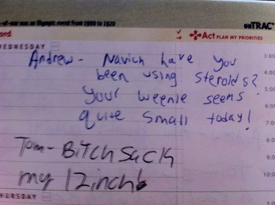 What I find in my school planner. -_-