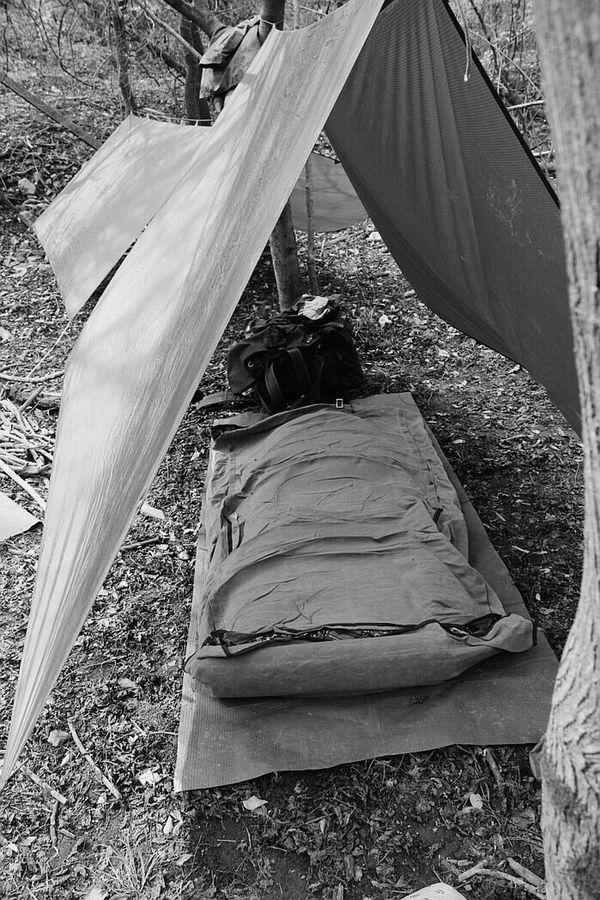 Monochrome Camping Duluthpack Bedroll Black & White Bushcraft