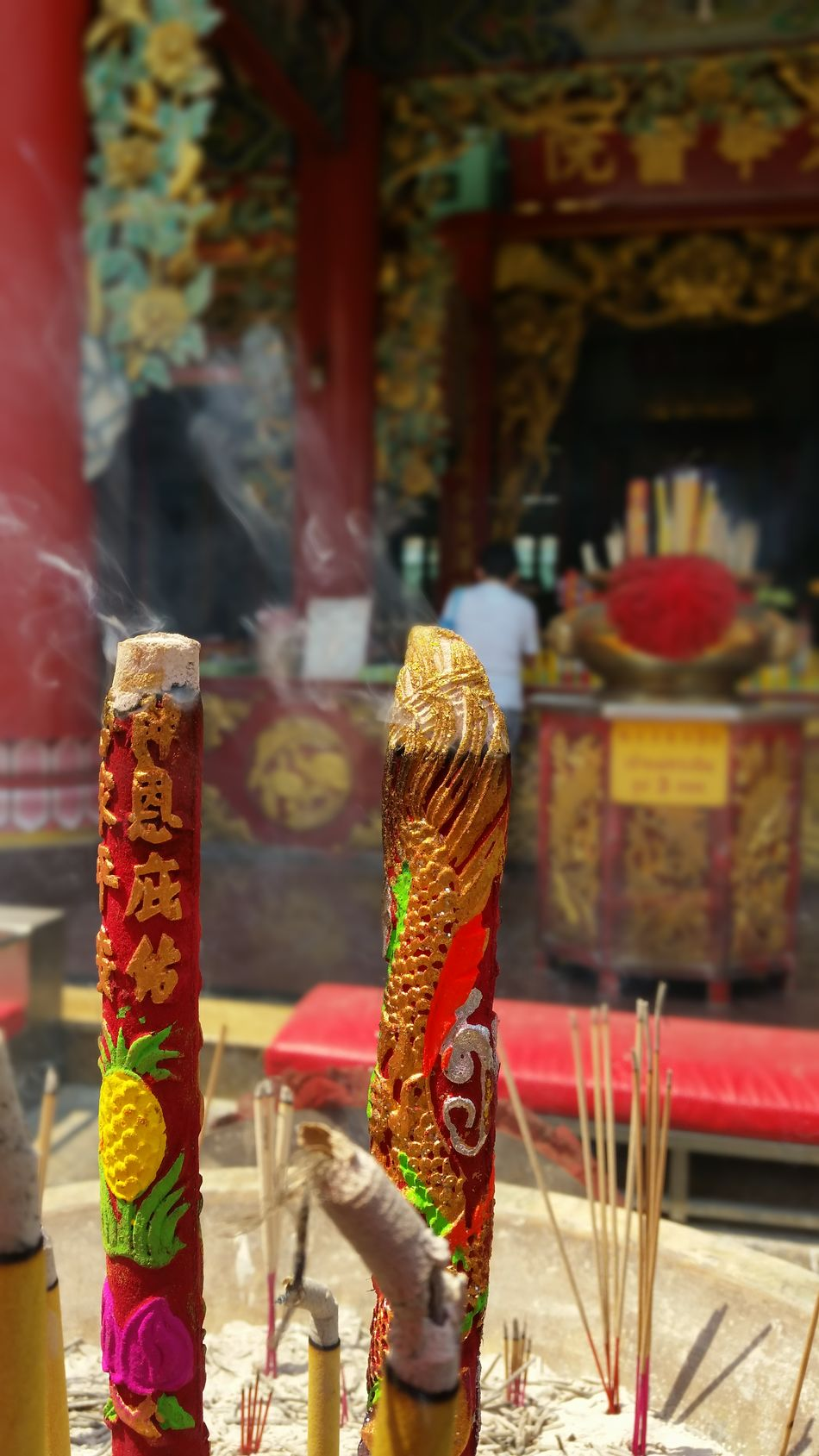 Red Colorful Incense Incense Sticks Burning Chinese Temple Make Merit Make A Wish China Town Place Of Worship Multi Colored Outdoors Tradition Noedit Nofilter Samsungphotography มูลนิธิเทียนฟ้า