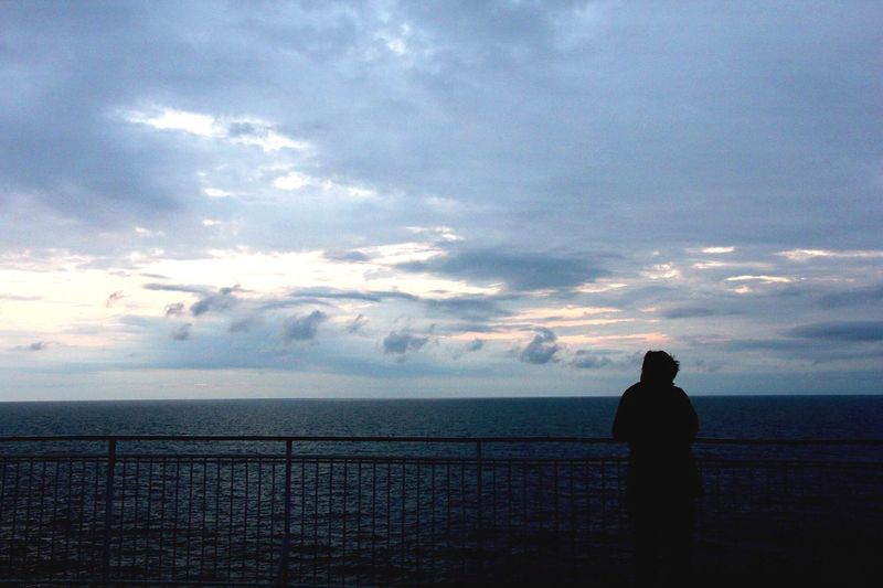 Sea. Sea Sky Horizon Over Water Water Cloud - Sky Rear View Real People Scenics Beauty In Nature Nature Silhouette Standing Men Tranquility One Person Tranquil Scene Leisure Activity Outdoors Day One Man Only New Russian Culture Russia