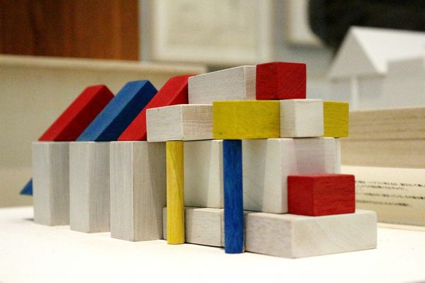 Toy Block Multi Colored Indoors  No People Mostra Exhibition MAXXI Roma