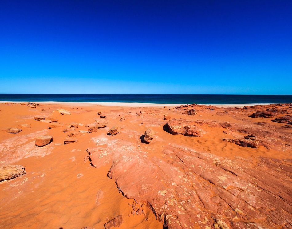 Nature Beauty In Nature Outdoors Horizon Over Water Tranquility Scenics Water Sky Sand Arid Climate Australia Red Red Sand Cape Leveque Kooljaman