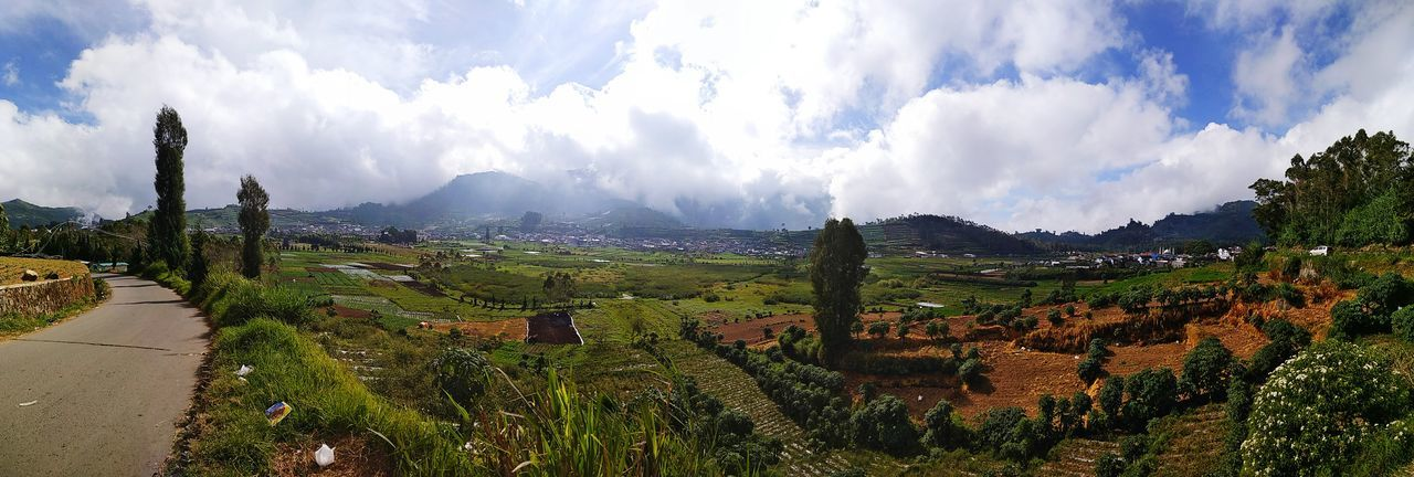 The Dieng Plateu Cloud - Sky Nature Sky Mountain No People Landscape Outdoors Tree Scenics Day Beauty In Nature INDONESIA Indonesia Traditional Indonesiabeauty