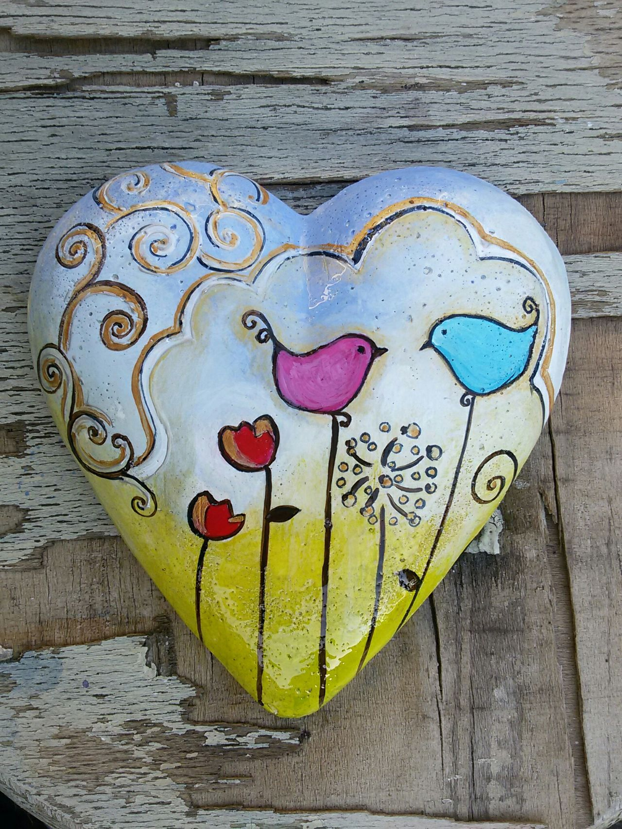 Lovebirds Heart Shape Heart Of Stone Art And Craft No People Creativity Heartshape Handmadewithlove