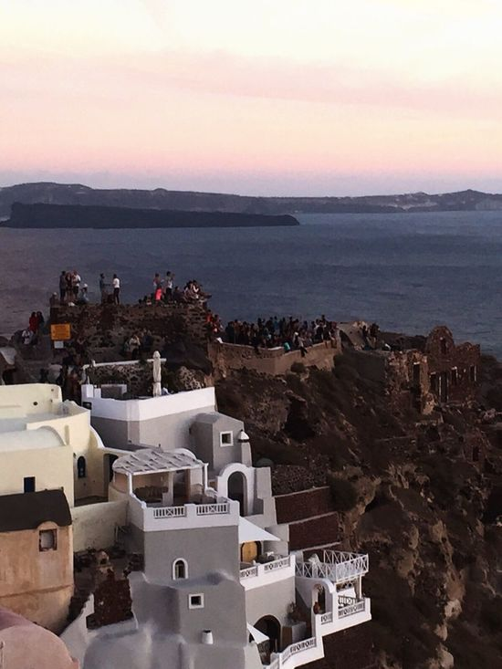 Taking Photos Oia Santorini From Santorini With Love People Watching