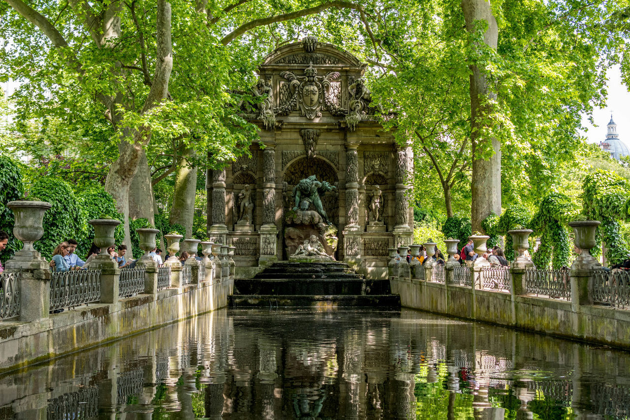 Architecture EyeEm Best Shots France History Jardin Du Luxembourg Outdoors Paris Reflection Sculpture Statue Tranquility Travel Destinations Water EyeEmNewHere Let's Go. Together.