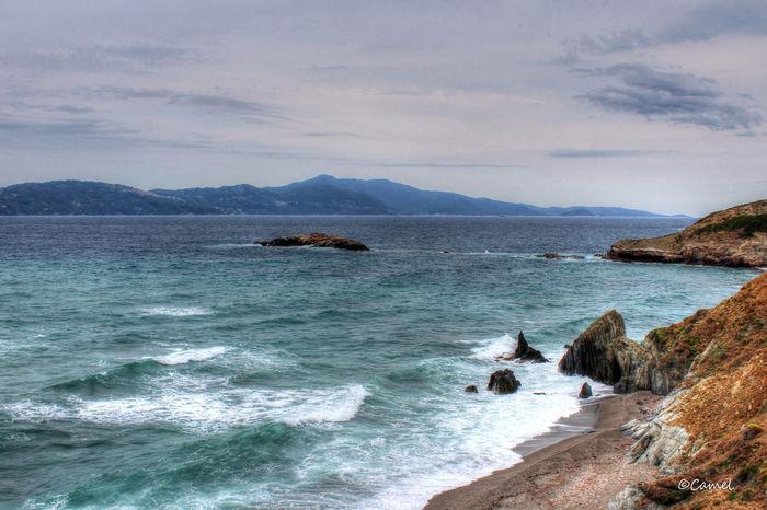 Beauty In Nature Cloud - Sky Day Greece Horizon Over Water Island Nature No People Sea Skiathos Sky Water Wave