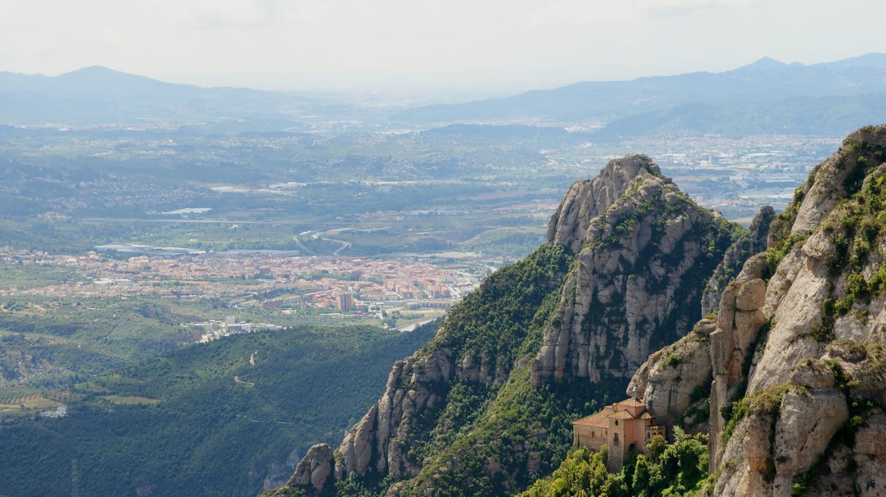 Monserrat Mountains and Surrounds , Catalunya . Sony A350 Panorama Panoramic Panoramic Landscape Panoramic View Landscape Landscape_photography Nature Mountain High Angle View From Above  Tourist Attraction  Tourist Destination Valley A Bird's Eye View A Bird's Eye View