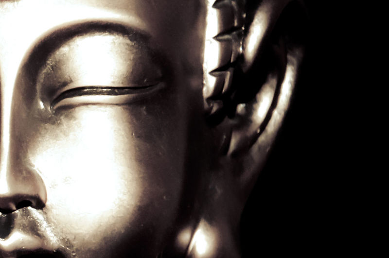 hidden face Buddha Statue Close-up Darkroom Focus On Foreground Golden Half Indoors  No People Still Life Taking Photos