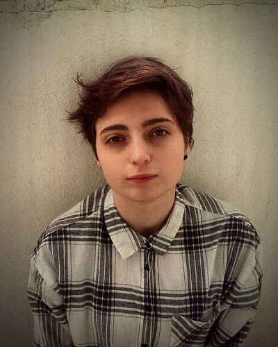 One Person Front View Portrait Aesthetic Tomboy Looking At Camera
