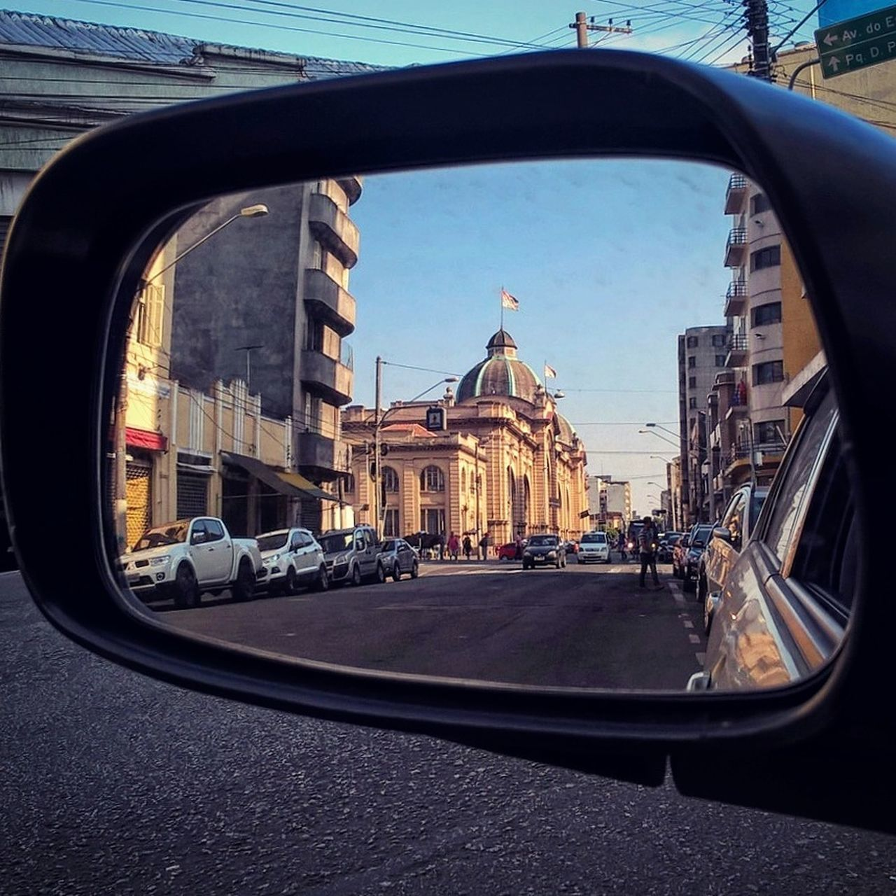 City Architecture Vehicle Mirror Mercadaosp