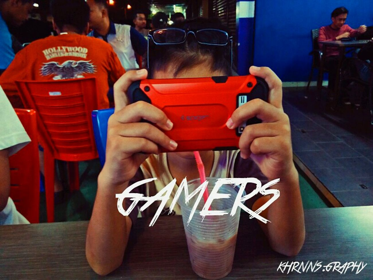 Gamers be like : Human Hand Red People One Person Day Vscocam Vscogood VSCO Vscomalaysia Gamerstime Gamersarecool Outdoorlife Outdoor Children Night Nightlife Relaxing Moments Multi Colored Words Choice