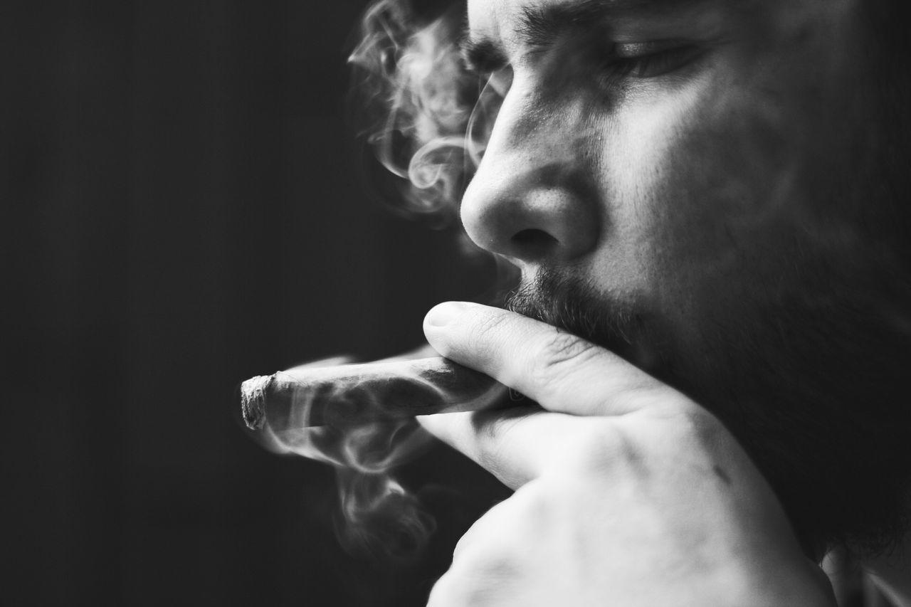 Beautiful stock photos of man, 20-24 Years, Addiction, Bad Habit, Cigar