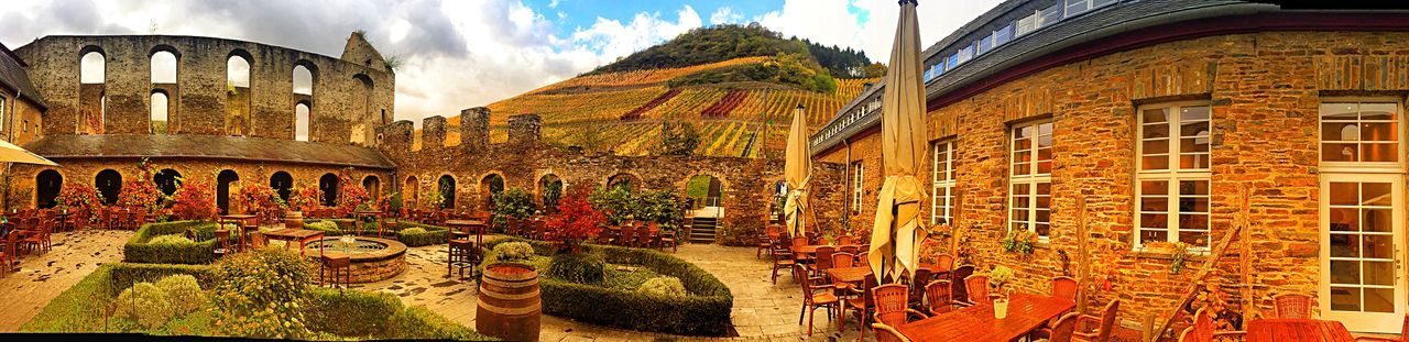 Wine, wine, everywhere wine. Kloster Dernau Winery Architecture Building Exterior Built Structure History Ancient Travel Destinations Outdoors No People Sky Day Nature