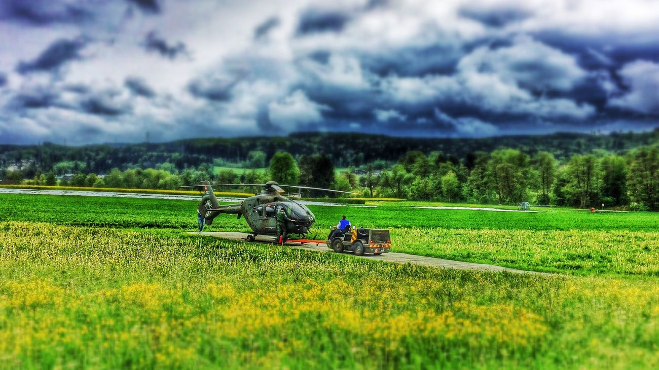 Preparing for start Helicopter Tiltshift Hdr_Collection EyeEmSwiss
