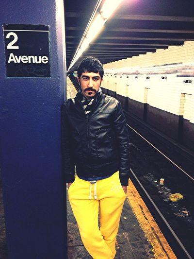Real Borat In NY Subway