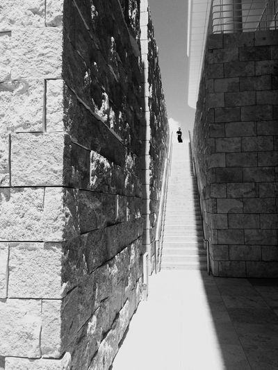 LA Stairway Stairway Built Structure Architecture Building Exterior Day Brick Wall The Way Forward Outdoors Walkway EyeEmNewHere