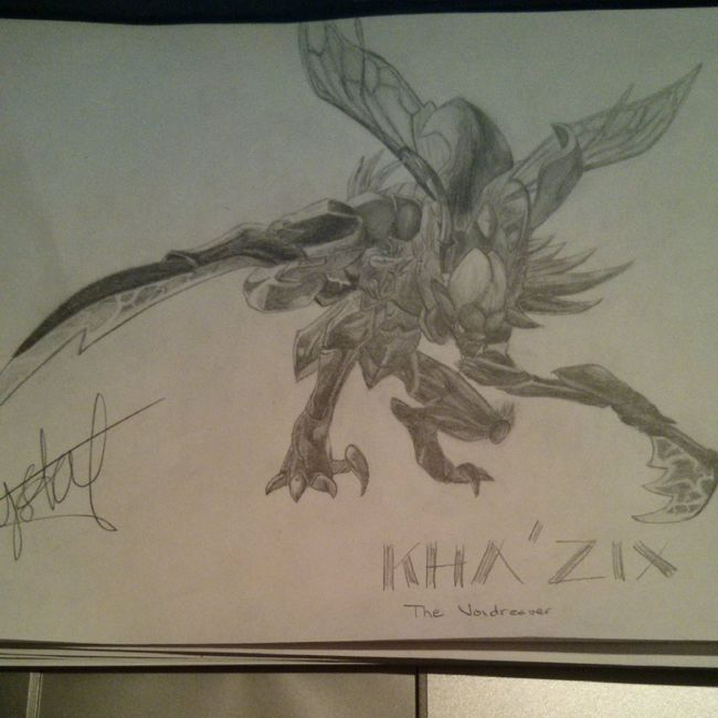 Drawing LeagueofLegends Blackandwhite Khazix
