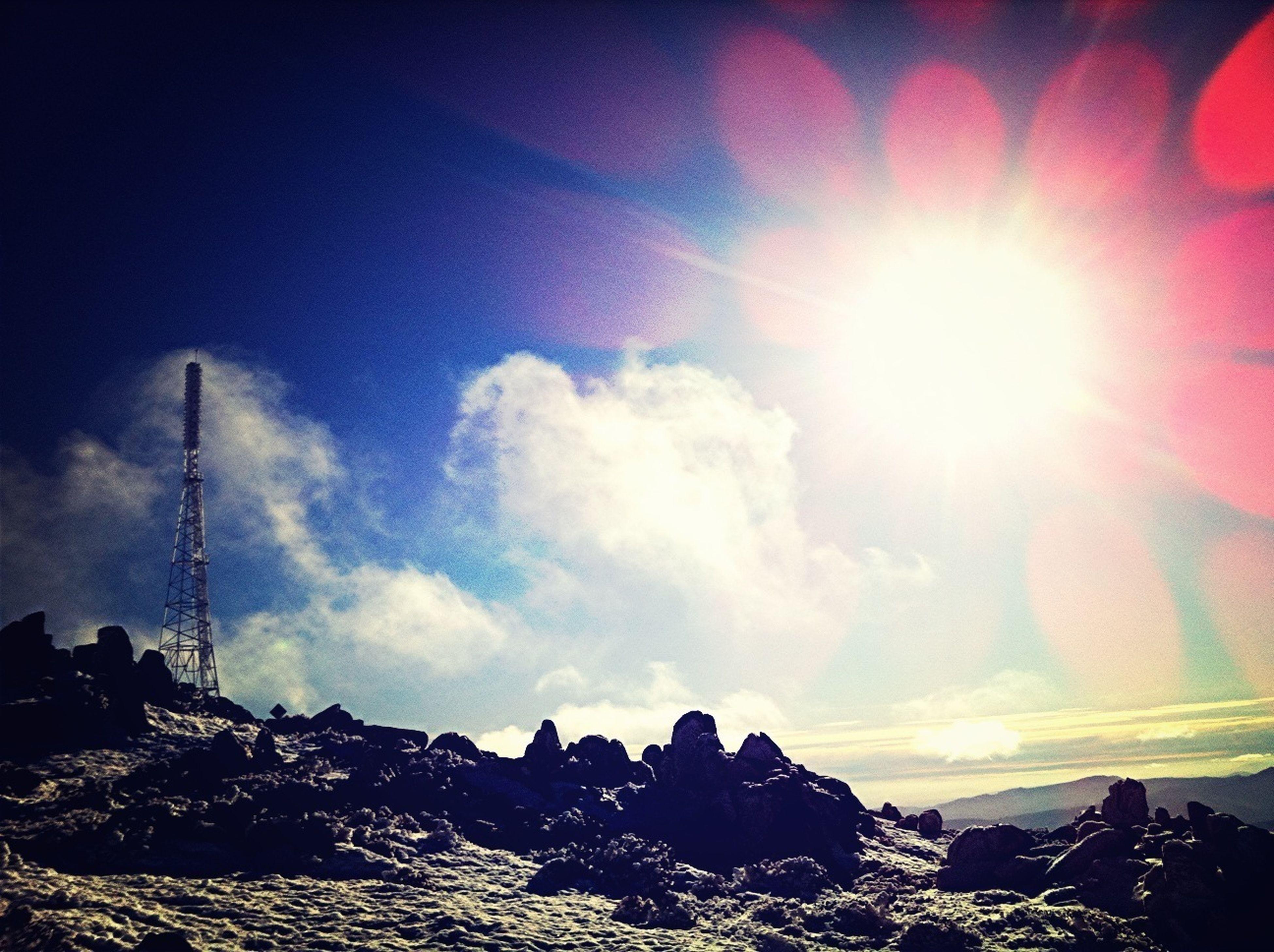 On top if Mount Wellington