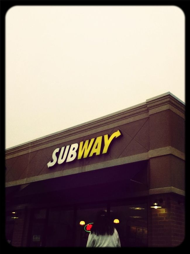 Getting Ready To Eat Subway After Church!!!!!