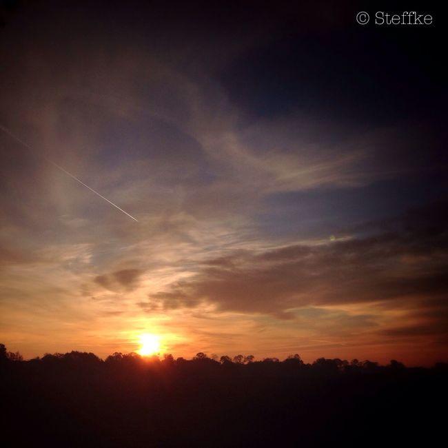 flieger gruess mir die sonne... Clouds And Sky Sunset Krummensee Himmelskunst