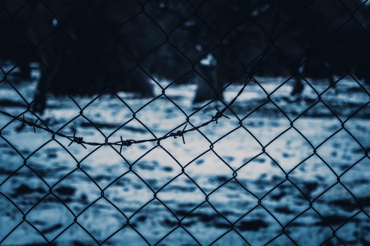 Full Frame Of Chainlink Fence