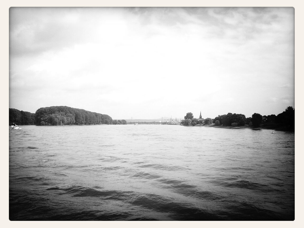 Rheinfahrt - Boat Ride Blackandwhite Mobile Photography Landscape