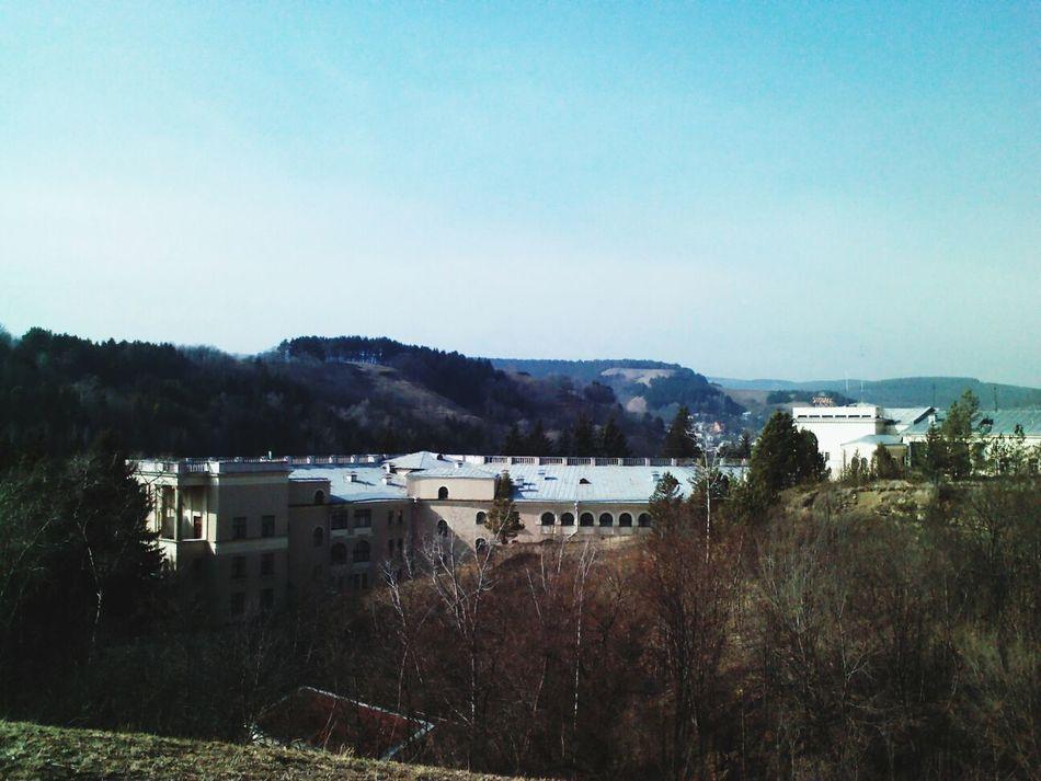 Вид на пафосные санатории Kislovodsk Кисловодск