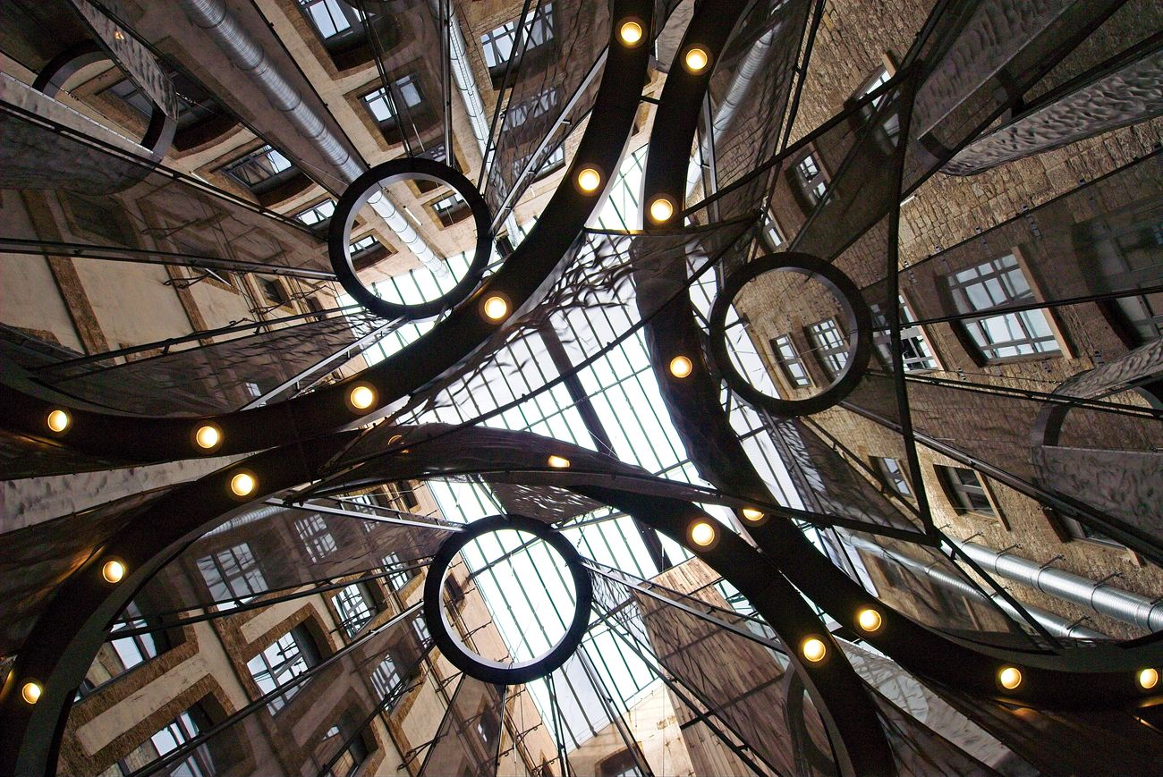 Architecture Illumination Inner Courtyard Into The Sky Les Docks Marseille