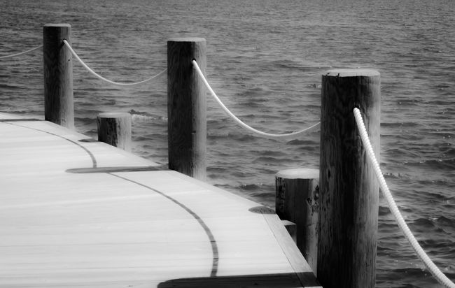 Black & White Black And White Black And White Photography Black&white Blackandwhite Blackandwhite Photography Built Structure Harbor Jetty Lake Leading Modern Nature No People Outdoors Pier Railing Rope Scenics Sea Tranquil Scene Tranquility Water Wood - Material Wooden Post