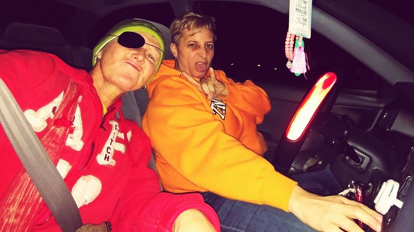 EyeEm Selects Two People Sitting Adult People Togetherness Adults Only Night Young Adult Front View Women Adult Only Women 2 People 2 Women Faux Thugs Red Hoodie Orange Hoodie In Car Selfie Portrait Let's Go. Together. Sommergefühle The Week On EyeEm Richmond Ky Modern Love Connected By Travel Second Acts Fashion Stories