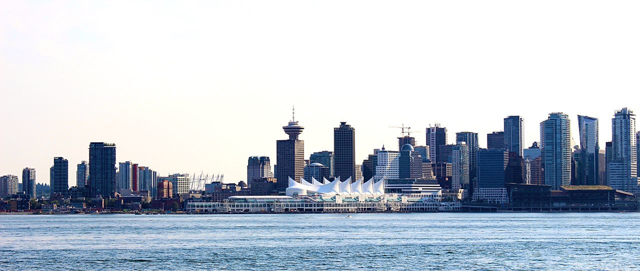 Cityscape Skyline Vancouver BC Vancouver Canada By The Water Waterfront Clear Sky Water Travel Destinations Financial District  Downtown District Street Photography Random