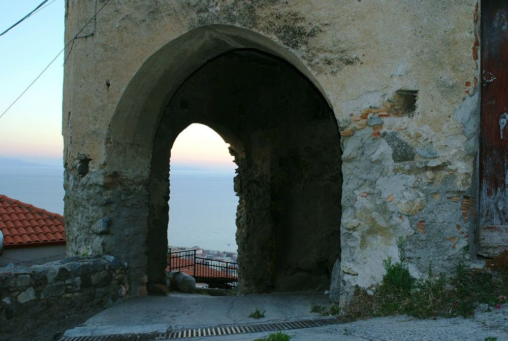 Nicotera, Italy. Built Structure Architecture Wall - Building Feature Arch Building Exterior Weathered Entrance Sea Steps Day Outdoors Stone Material Sky The Past History No People The Way Forward Tourism Atmosphere Unbelievable Views Tranquil Scene Finding New Frontiers