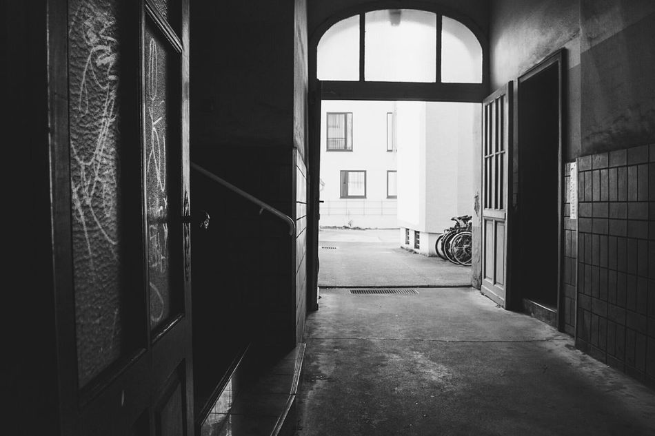 ~ ✴🌞~ Architecture Day No People Built Structure Door Window Light And Shadow Shadows Getting Inspired Outdoors Black & White Monochrome Building Architecture_bw Streetphoto_bw Streetphotography Bicycle Perspective Contrast Walking Around Wall - Building Feature Geometric Shapes Old Buildings Old Blackandwhite