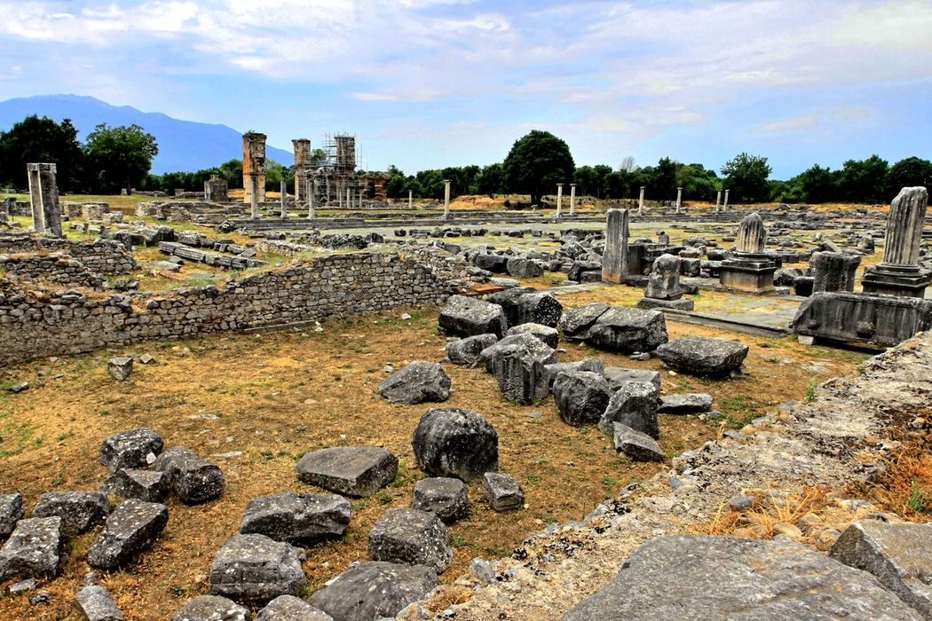 Visiting the Philippi archaeological site, Northern Greece Ancient Ancient Civilization Archaeology Architecture Day Excavation History No People Outdoors Past Ruins Stone UNESCO World Heritage Site
