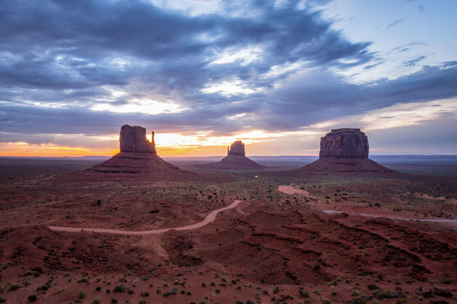 Colour Of Life Monument Valley Sacred Places Navajo Utah Arizona American West Sunrise The Mittens Nature Mountain Rock Formation No People Beauty In Nature More Than One
