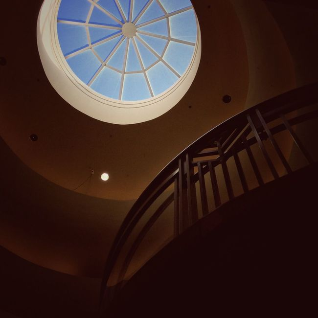 Architecture Built Structure Low Angle View No People Indoors  Architectural Feature Sunlight Architectural Design Dome Day Nostalgic  Phoenix Arizona Shopping Mall Metrocenter Eye For Photography Sky Close-up Architecture Atmosphere Indoors  Window Illuminated Glow Mall