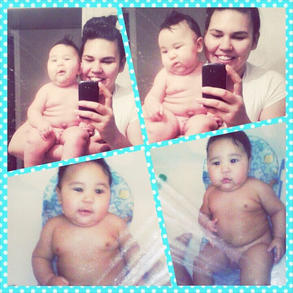 silly faces for shower time