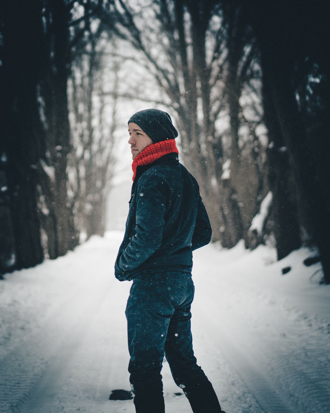 Winter Snow Cold Temperature Warm Clothing Weather One Person Real People Knit Hat Walking Snowing Rear View Nature Tree Day Forest Full Length Childhood Outdoors Beauty In Nature People portrait Winter Portrait Travel Explore Wander
