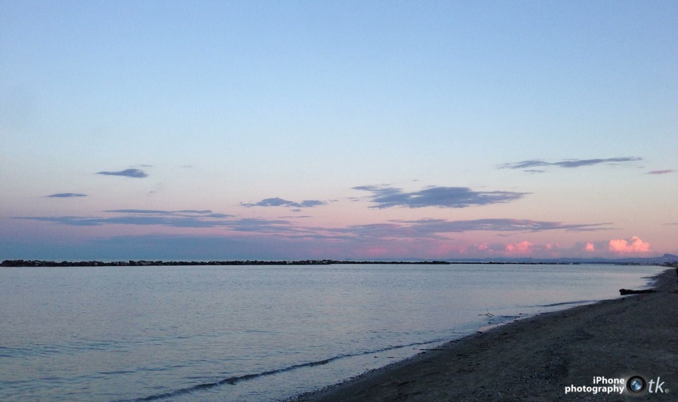 Sea Beach Evening Evening Sky