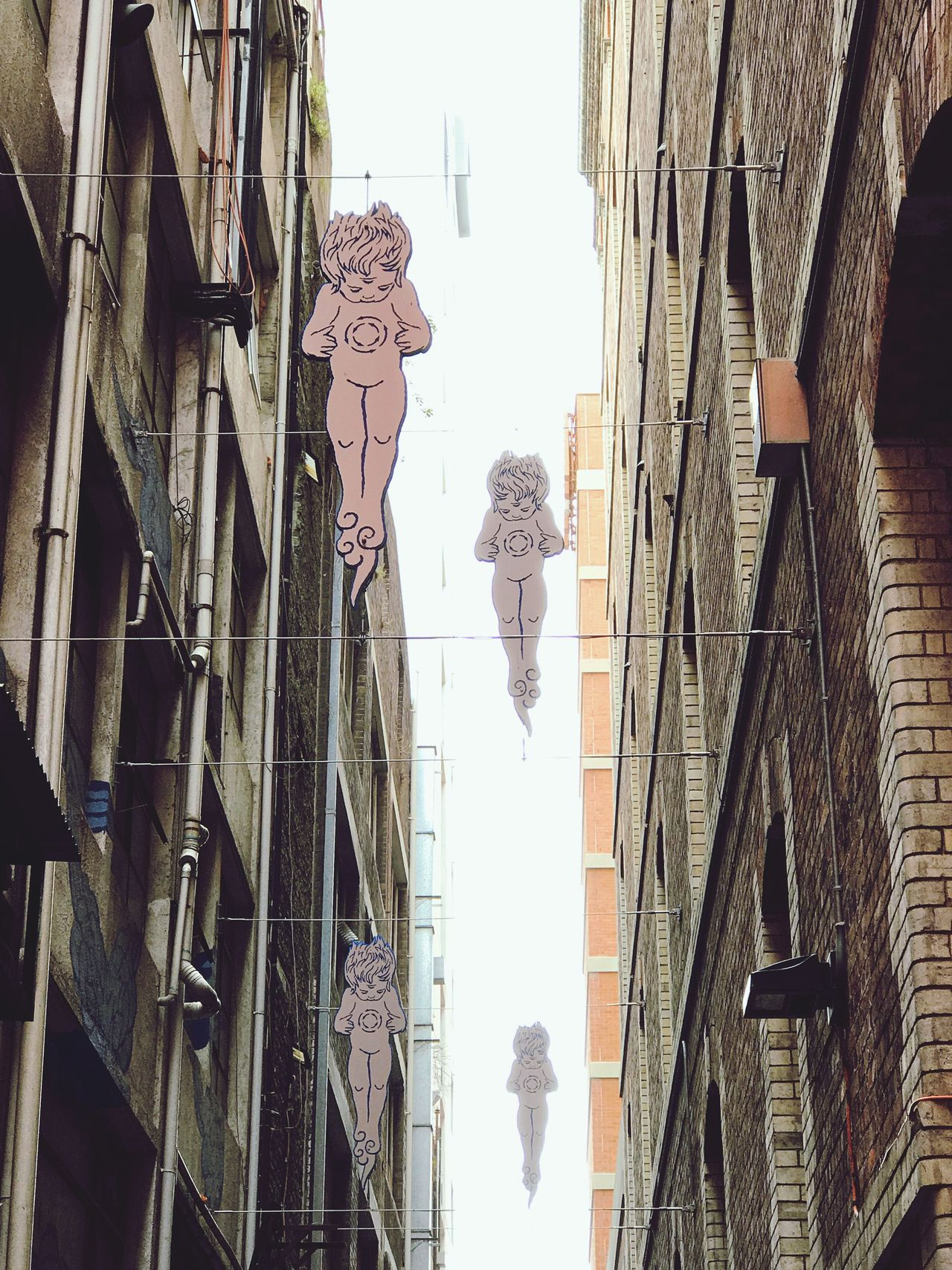 Laneway Street Art | Angels Lookingup | Adapted To The City