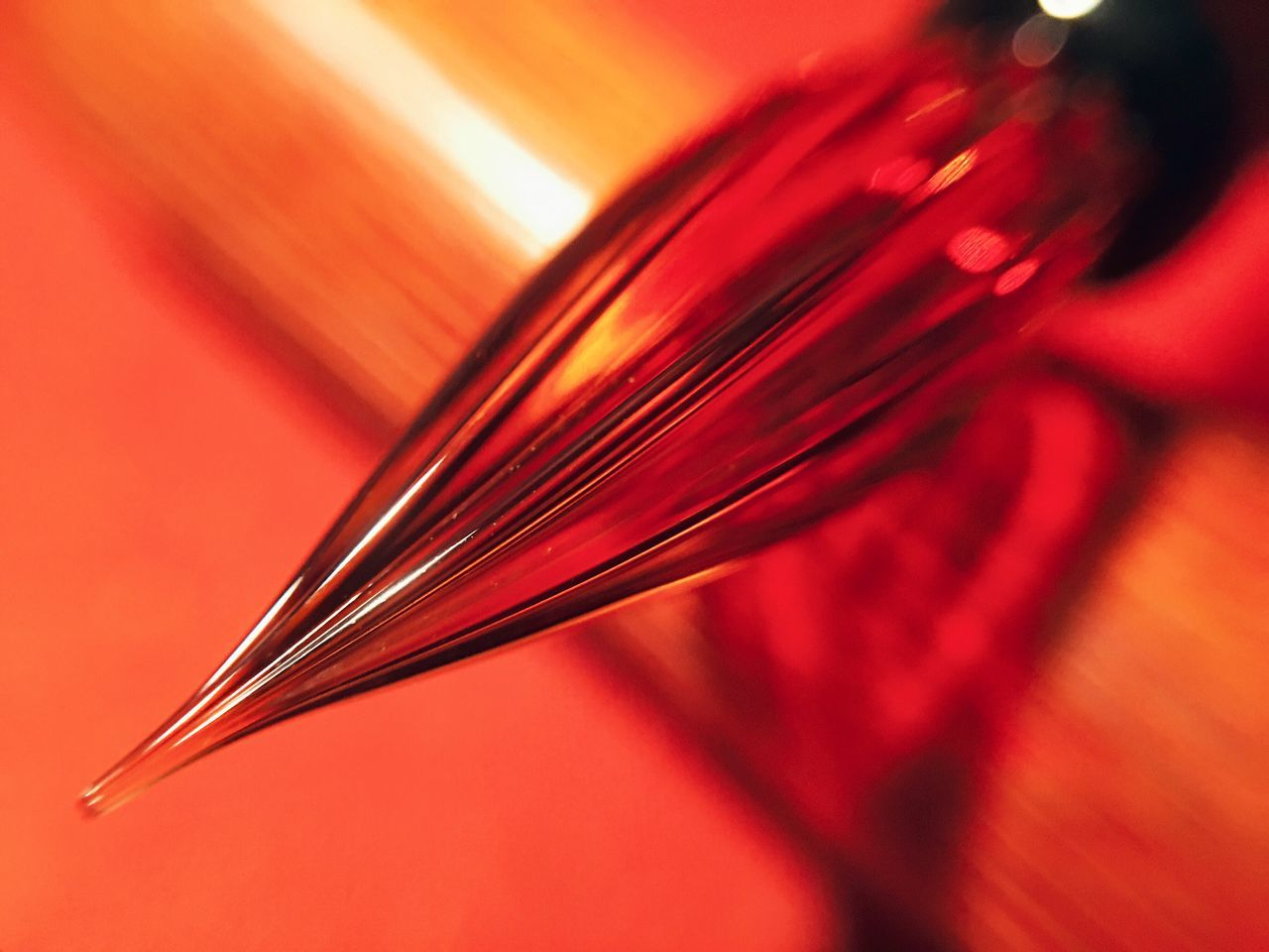 Red Close-up Glass Pen Handmade Pen Handmade Lieblingsteil