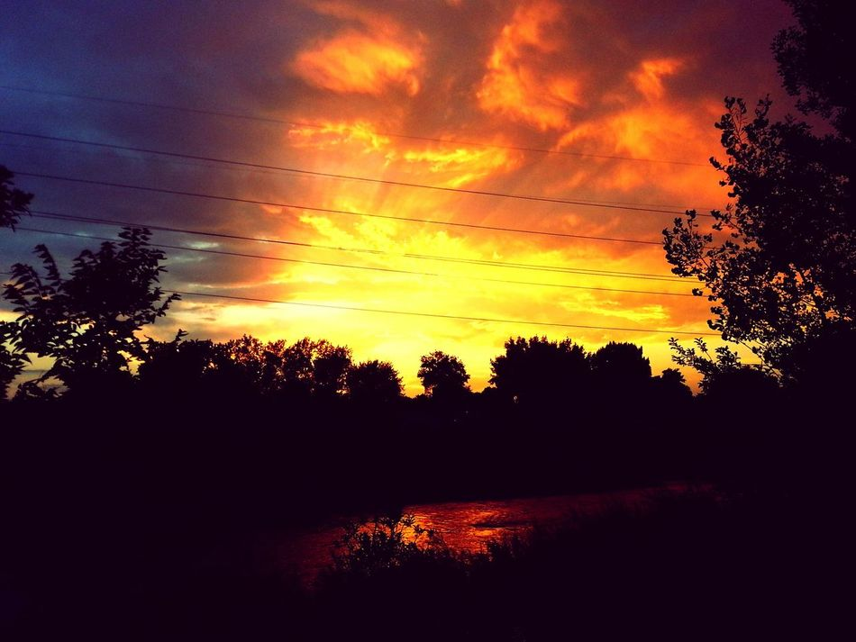 I love a good sunset. Sunset_collection Sunset Nature On Your Doorstep Nature's Wonder Color Explosion Landscape Colorful Galaxys3 My Best Photo 2015