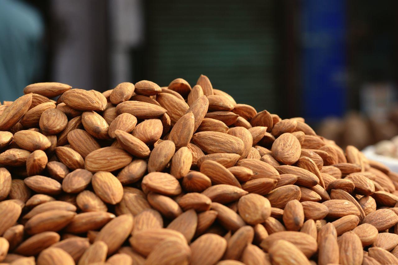 Almonds Almond Market Market Stall Street Market Chandnichowk Chandni Chowk Spice Market For Sale Food Retail  Collection Arrangement